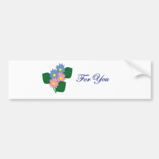 Flowers for You Bumper Sticker