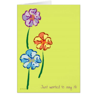 Flowers for You-Hi Card