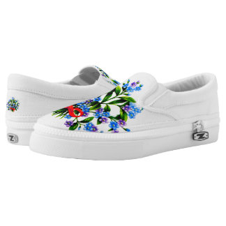 Flowers for Zipz-Slip-On-Women-Shoes Printed Shoes
