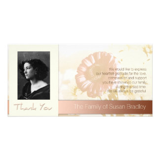 Flowers Frame Photo Sympathy Thank You P Photo Greeting Card
