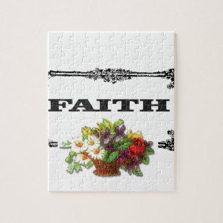 flowers framed in faith jigsaw puzzle
