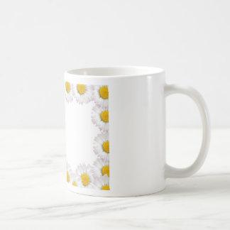flowers framework basic white mug