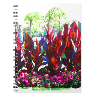 Flowers from Boston City Colorful Parks n Gardens Spiral Notebooks
