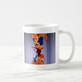 Flowers, funky lady coffee mug