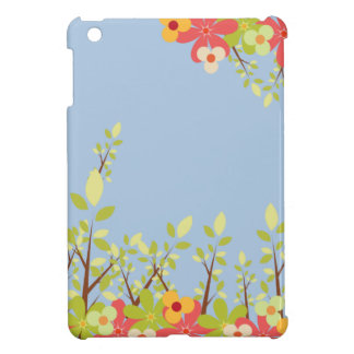 flowers garden blue iPad case
