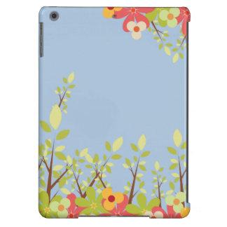 flowers garden blue iPad case