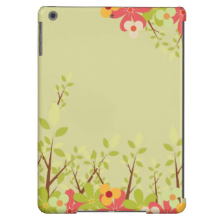 flowers garden green iPad case