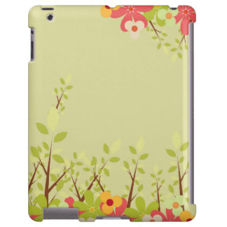 flowers garden green iPad case