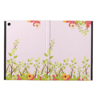 flowers garden pink iPad case