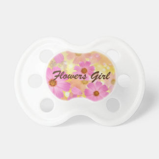 Flowers Girl baby pacifier