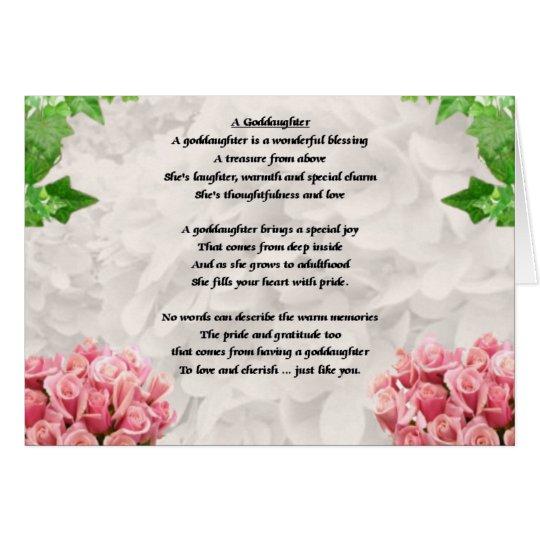 Flowers Goddaughter poem Card