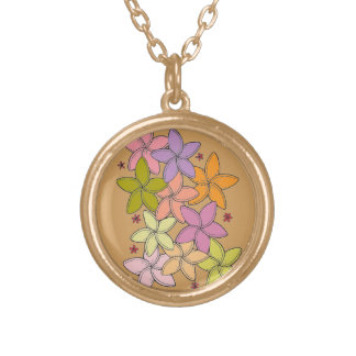 Flowers Gold Plated Necklace
