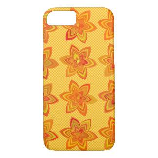 Flowers gone wild in orange iPhone 7 case
