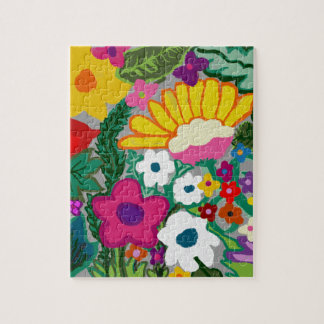 flowers group a different colors jigsaw puzzle