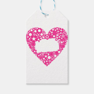 Flowers heart gift tags