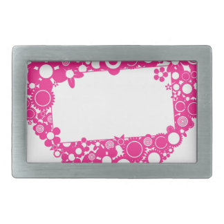 Flowers heart rectangular belt buckle