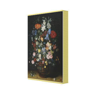 Flowers in a Ceramic Vase Canvas Print