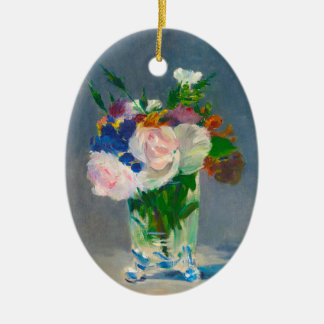 Flowers in a Crystal Vase by Manet Ornament