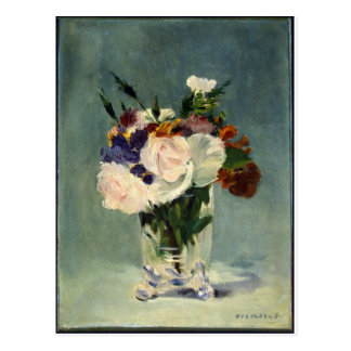 Flowers_in_a_Crystal_Vase,_Edouard_Manet,_c1882 Postcard