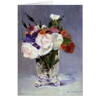 Flowers in a Crystal Vase Edouard Manet Fine Art Card