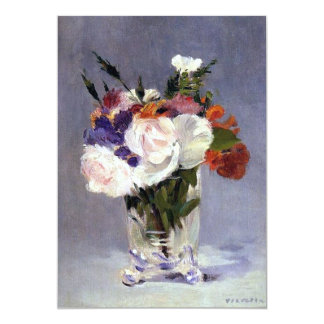 "Flowers in a Crystal Vase Edouard Manet Fine Art 5"" X 7"" Invitation Card"