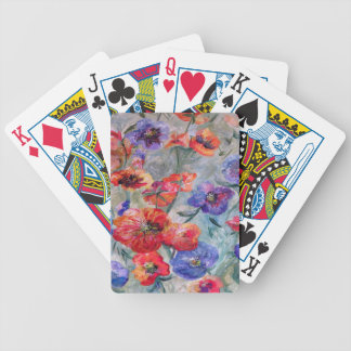 Flowers in a Field of Green Bicycle Playing Cards