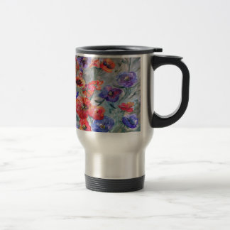 Flowers in a Field of Green Travel Mug