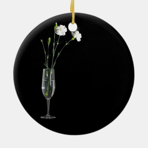 Flowers in a Glass Christmas Tree Ornament