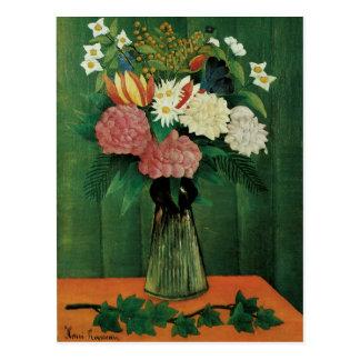 Flowers in a Green Vase Postcard