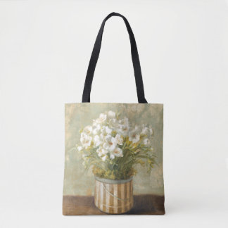 Flowers in a Hat Box Tote Bag