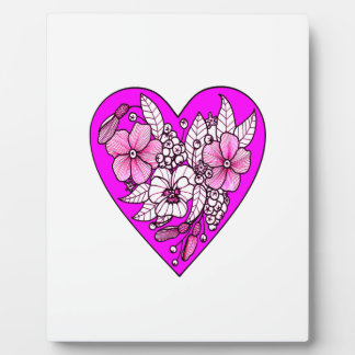 Flowers in a Heart Plaque