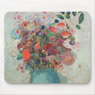Flowers in a Turquoise Vase, c.1912 Mouse Pad