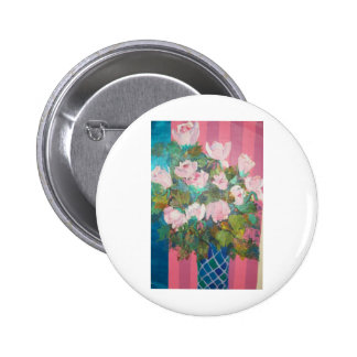 flowers in a vase pinback button