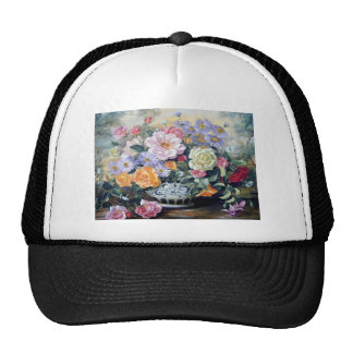 Flowers in a vase mesh hats
