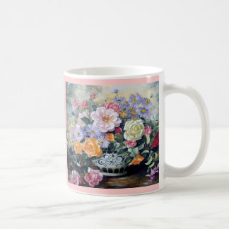 Flowers in a vase mugs