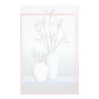 Flowers in attractive pot customized stationery