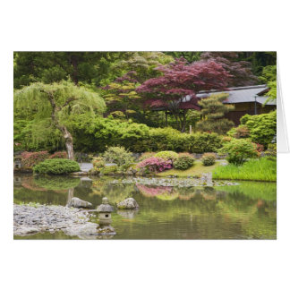 Flowers in bloom at Japanese Garden, Greeting Card