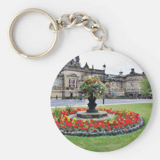 Flowers In Blossom In Front Of Turkish Baths In Ha Key Ring