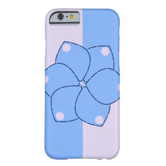 Flowers in blue barely there iPhone 6 case