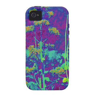 Flowers in Blue iPhone 4 Case