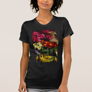 Flowers in brass bowl tee shirts