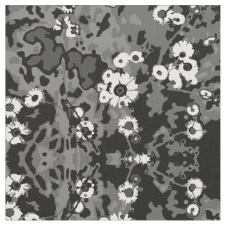 Flowers in Camo Fabric