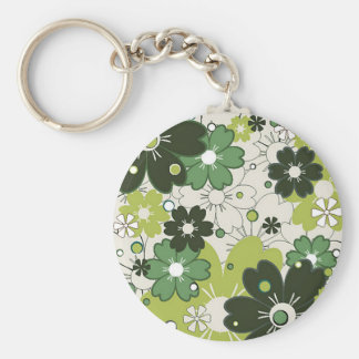 flowers in clover key chains