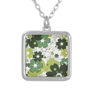 flowers in clover necklaces