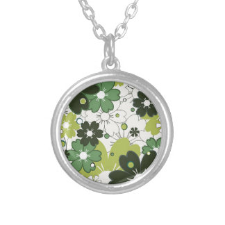 flowers in clover necklace