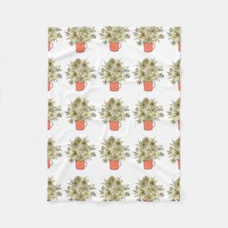 Flowers in Coffee Mug 1 Fleece Blanket