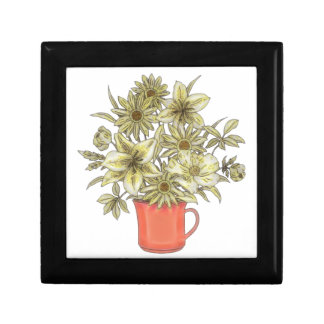 Flowers in Coffee Mug 1 Gift Box