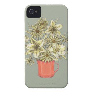 Flowers in Coffee Mug 1 iPhone 4 Cases