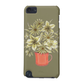 Flowers in Coffee Mug 1 iPod Touch (5th Generation) Covers