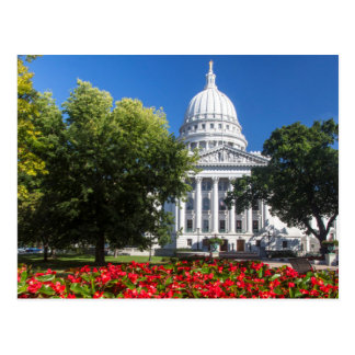 Flowers In Front Of State Capitol Building Postcard
